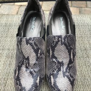 Coach and four snakeskin heels